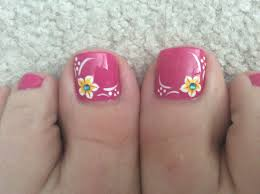 Toe Nail Designs Flowers Another Summer Pedicure Flower Toe Nails Summer Toe Nails
