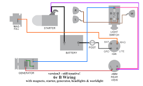 b wiring re ed allischalmers forum i modified the original diagram to put the connections to the light switch and the starter solenoid on the same side of the ammeter and added the fuse that
