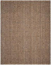 safavieh natural fiber hand woven natural black jute area rug 11 x 15
