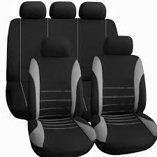 universal car seat cover set 9pcs seat covers front seat back seat headrest cover