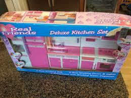 Dollhouse Furniture Kitchen Dollhouse Furniture Kitchen Playset Barbie Size Accessories Pink
