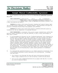 Mutual Confidentiality Agreement 100 Confidentiality Agreement Template Fillable Printable PDF 89