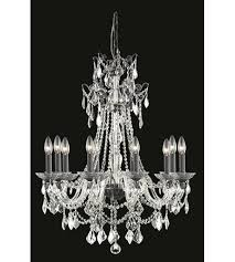 elegant lighting 9810d30db ss imperia 10 light 30 inch dark bronze chandelier ceiling light photo