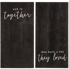 life they loved wood wall decor set