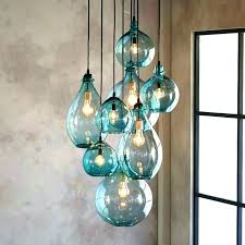 hand blown glass pendant lights stun lighting large clear yellow green and amber colored interior design