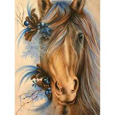 5d diy full drill diamond painting horse head cross stitch embroidery kits us 6 10 ping newfrog com
