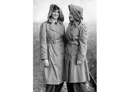 flying nurses of the usaaf ninth troop carrier command wearing special hooded trench coats in england during world war ii 1944 mirrorpix corbis