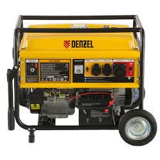 <b>Бензиновый генератор DENZEL GE</b> 6900E, 5,5 кВт, 220В 50Гц ...