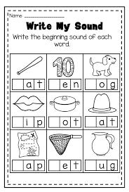 Worksheets Beginning Sound Word Sort Worksheets for all | Download ...