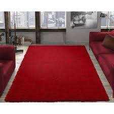 contemporary solid dark red 7 ft 10 in x 9 ft 10 in