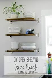 diy open shelving ikea lemonthistle com
