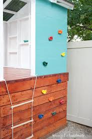 our diy playhouse is almost done this week we are sharing all the details on