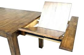 wood table with leaf round
