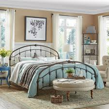 Lacey Round Curved Double Top Arches Victorian Iron King Metal Bed by  iNSPIRE Q Classic (