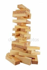 Wooden Bricks Game Tower of wooden blocks Jenga game and man's hand Stock Photo 26