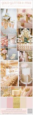 Pink And Gold Glitter Wedding Inspiration Board & Decoration Ideas