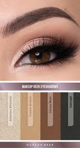 natural smokey eye look by denitslava m using makeup geek eyeshadows makeupgeek