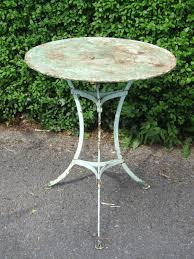 g200s vintage french round metal pedestal garden patio caf with regard to french garden furniture metal