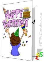 Printable Cards For Kids Printable Birthday Cards Thank