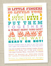 Rainbow Baby Shower Invitation Colorful Words Gender