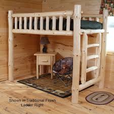 twist of nature log furniture pine log loft bed