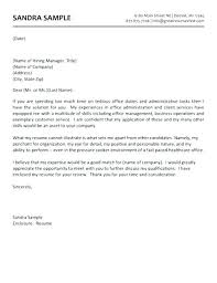 Administration Cover Letter Examples Office Administrator Cover