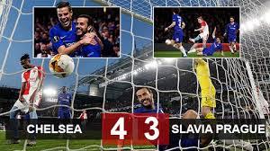 Chelsea 4-3 Slavia Prague Match Highlight