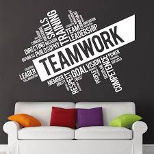 office wall stickers. Contemporary Office TeamworkVisionGoals Quote Wall Sticker In Office Stickers D