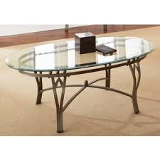 glass living room furniture. Clay Alder Home Academy Glass-top Oval Coffee Table Glass Living Room Furniture