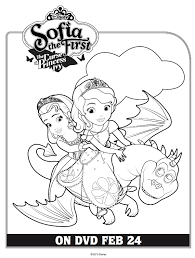 Small Picture Free Printable Sofia the First Coloring Page Printable Coloring