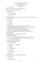 Soal matematika kelas 2 sd. Soal Matematika Uts Smp Kelas Vii