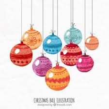 Hand Decorated Christmas Balls Hand Painted Christmas Balls Illustration Vector Free Download 68