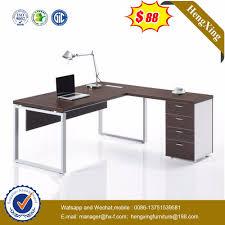 Computer Desk Simple Design Hot Item Simple Design L Shape Computer Table Wooden Mdf Office Standing Desk
