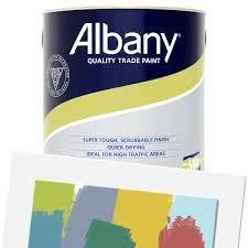Albany Paint Colour Chart Albany Durable Matt Colour Tinted 5l