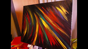how to paint easy contemporary abstract art on canvas oil painting