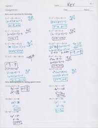 factoring practice worksheet answers beautiful math worksheets go practice solving quadratics by factoring
