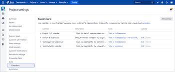 Calendars To Edit Create And Edit Sla Calendars Atlassian Documentation