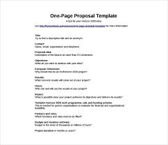 One Pager Project Template How To Write A One Page Proposal Templates Pdf Word