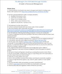 restaurant manager walk through checklist restaurant consulting
