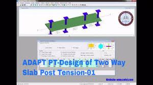 Post Tension Design Software Adapt Pt Design Of Two Way Slab Post Tension 01