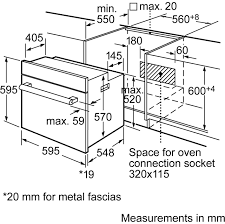 bosch built in electric single oven hbn331e4b ao com
