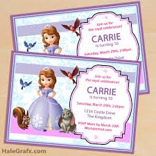 Princess Invitations Free Template Free Printable Sofia The First Birthday Trend Free Sofia The First