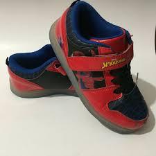 Spiderman Light Up Shoes Size 13 Marvel Comics Spider Man Kids Light Up Shoes Footwear Red