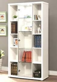 glass door bookcase white with doors furniture sliding