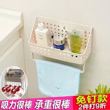 get quotations powerful suction wall bracket plastic bathroom room wall hanging basket kitchen bathroom storage rack shelving rack