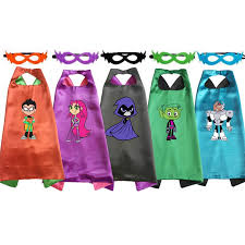 Teen Titans Costume Capes with Masks <b>Girls Anime Halloween</b> ...