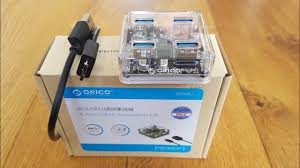 Orico <b>4</b>-<b>Port USB3</b>.<b>0</b> Transparent <b>HUB</b> Hands on Review and Test ...