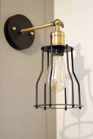 black and gold industrial sconce edison bulb lights economical