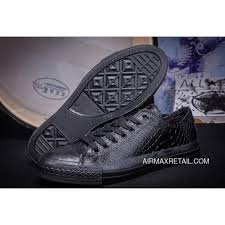 all black all star converse crocodile leather low tops chuck taylor sneakers