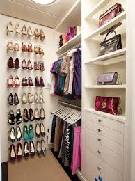 beautiful small walk in closet with shoe organizer